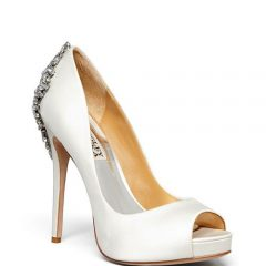 Badgley Mischka Kiara Satin Platform Pumps