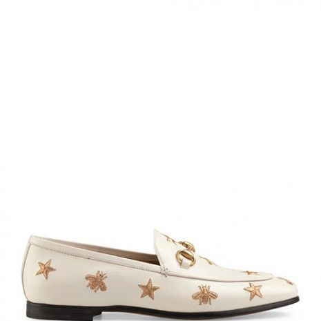 Gucci Jordaan Embroidered Leather Loafers side