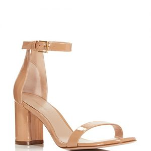 Stuart Weitzman Lessnudist Block Heel Sandals