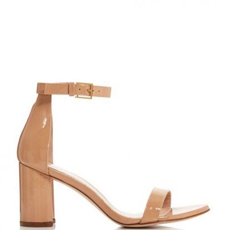 Stuart Weitzman Lessnudist Block Heel Sandals side