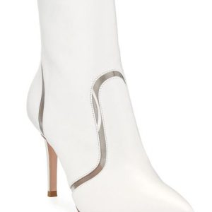 Gianvito Rossi Leather & Vinyl Point-Toe Booties