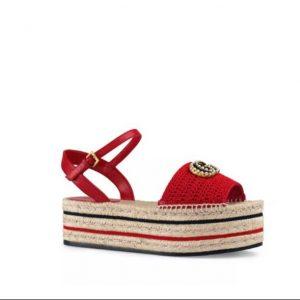Gucci Women's Crochet Platform Espadrille