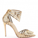 Christian Louboutin Maratena 100 Metallic PVC Red Sole Sandals 3