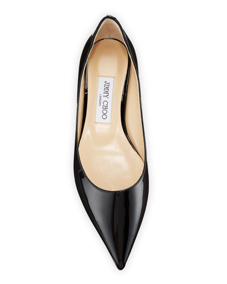 Jimmy Choo Love Patent Ballet Flats with Button 2