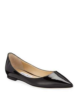 Jimmy Choo Love Patent Ballet Flats with Button 3