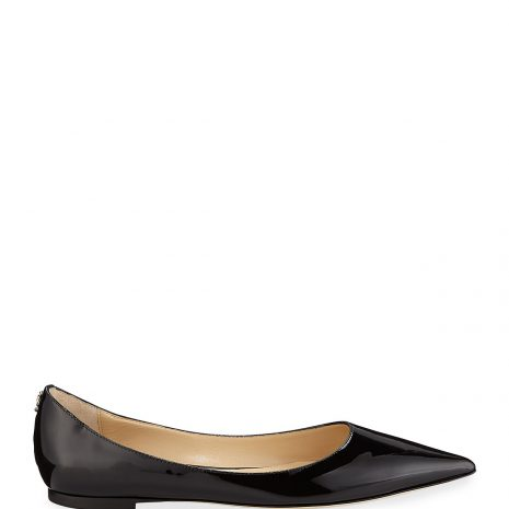 Jimmy Choo Love Patent Ballet Flats with Button