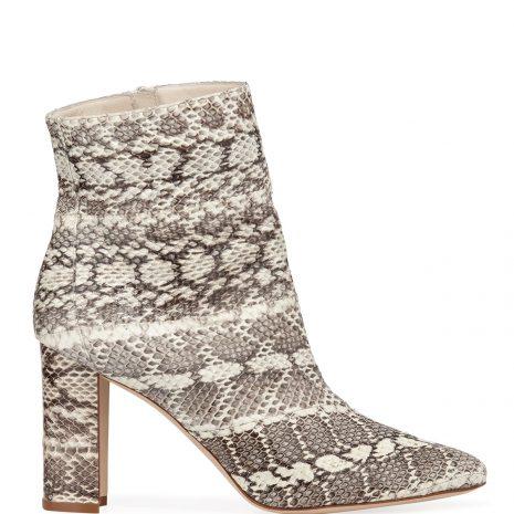 Manolo Blahnik Rosie Block-Heel Snakeskin Booties 3