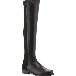 Stuart Weitzman 5050 Over-The-Knee Stretch Leather Boots