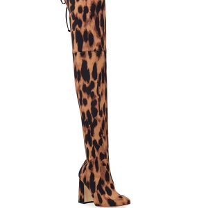 Stuart Weitzman Kirstie Leopard Over-The-Knee Boots