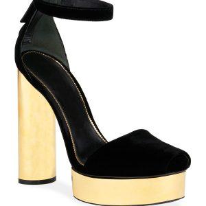 TOM FORD Velvet Platform Sandals