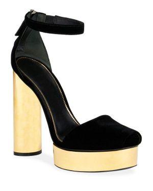TOM FORD Velvet Platform Sandals1