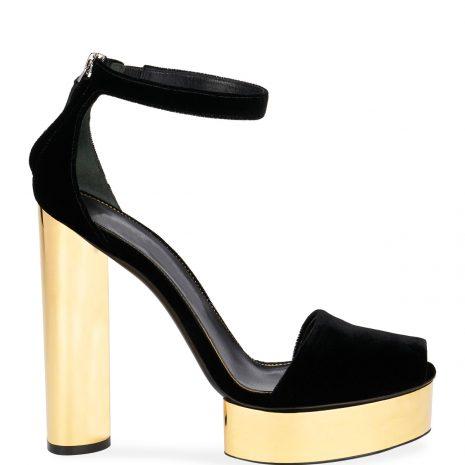 TOM FORD Velvet Platform Sandals2