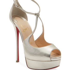 Christian Louboutin Alminalta Metallic Red Sole Sandals